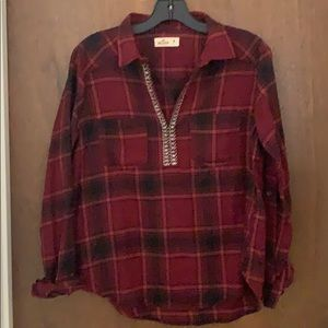 Hollister top long sleeve size M